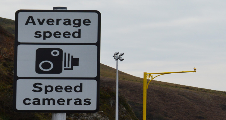 Average Speed Camera with Sign