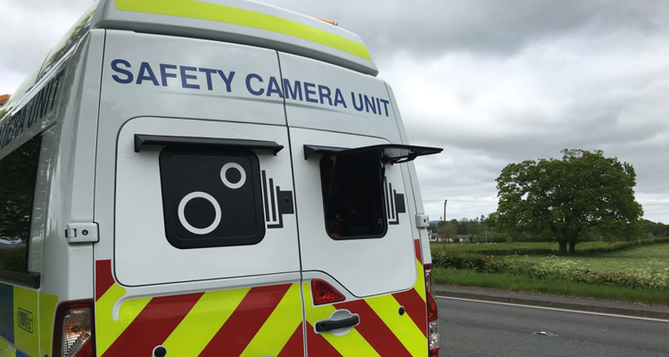 safety camera van with open hatch